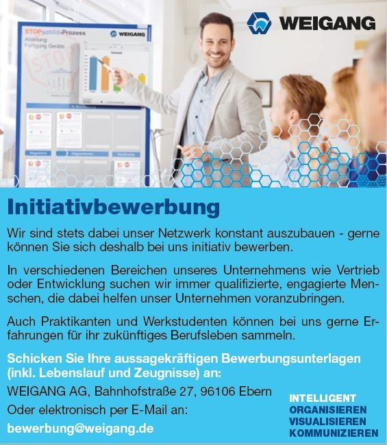 Weigang initiative Bewerbung, Ebern.