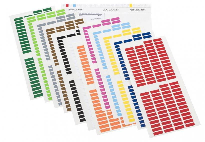 Bild der Farbmarkierer für die Karteikarten von WEIGANG-Definitiv.