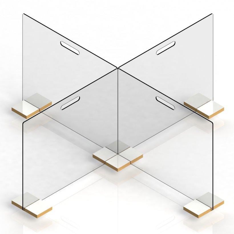 Schutzscheiben-Set in X-Aufstellung von WEIGANG.