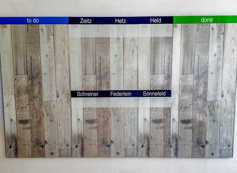 Bild des modularen TaskBoards.