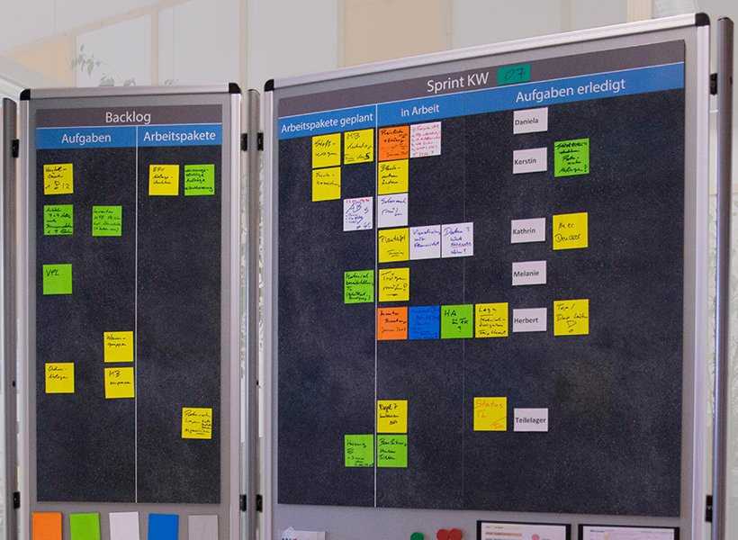 Image of TaskBoard with TaskCards.