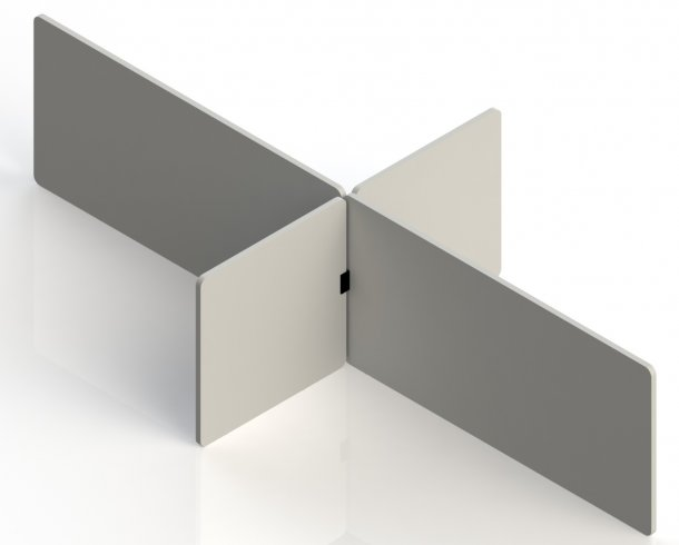 Table partition set large consisting of 4 panels.