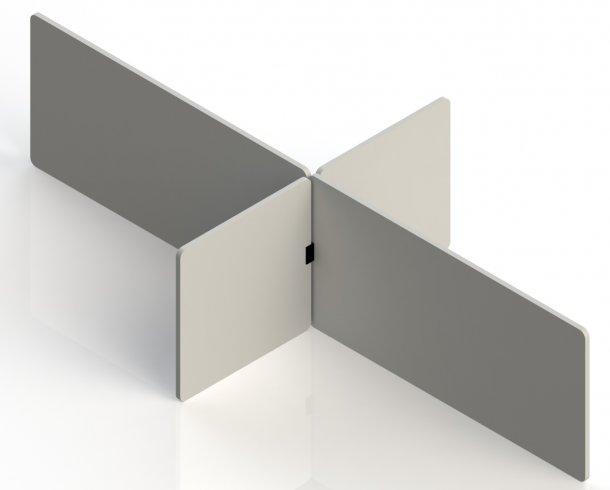 Tischtrennwand Set für den Schreibtisch.