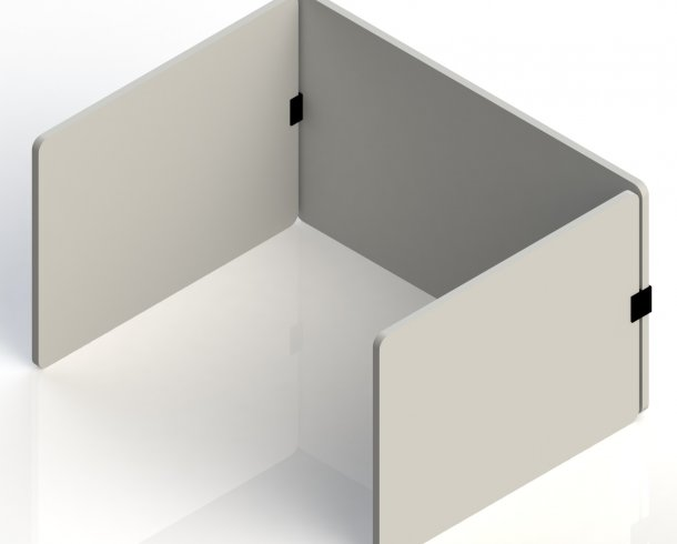 Table partition set consisting of 3 panels.