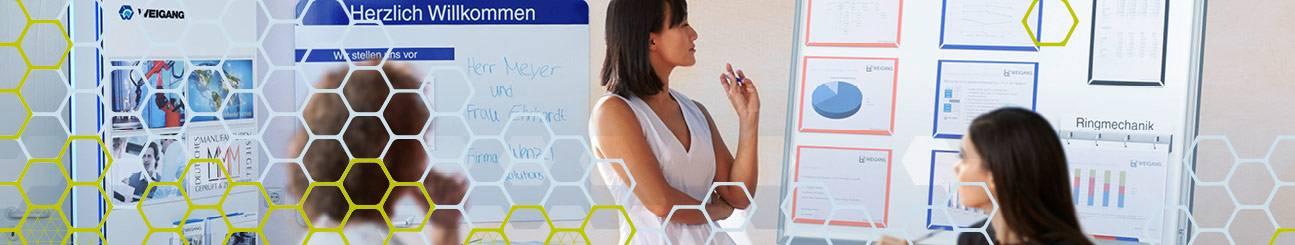 Bild von Besprechung mit Moderationsequipment WEIGANG.