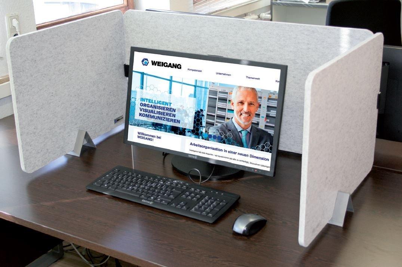 Akustik Tischtrennwände für den Schreibtisch