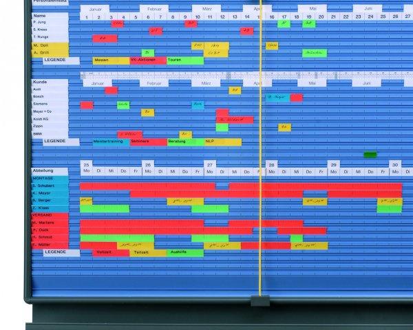 Bild einer Plantafel Personalplanung von WEIGANG.
