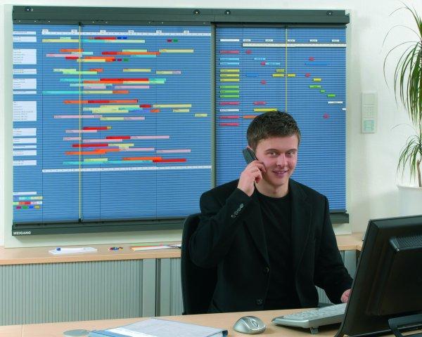 Bild einer rollenenden Planung Kapazitätsübersicht von WEIGANG.